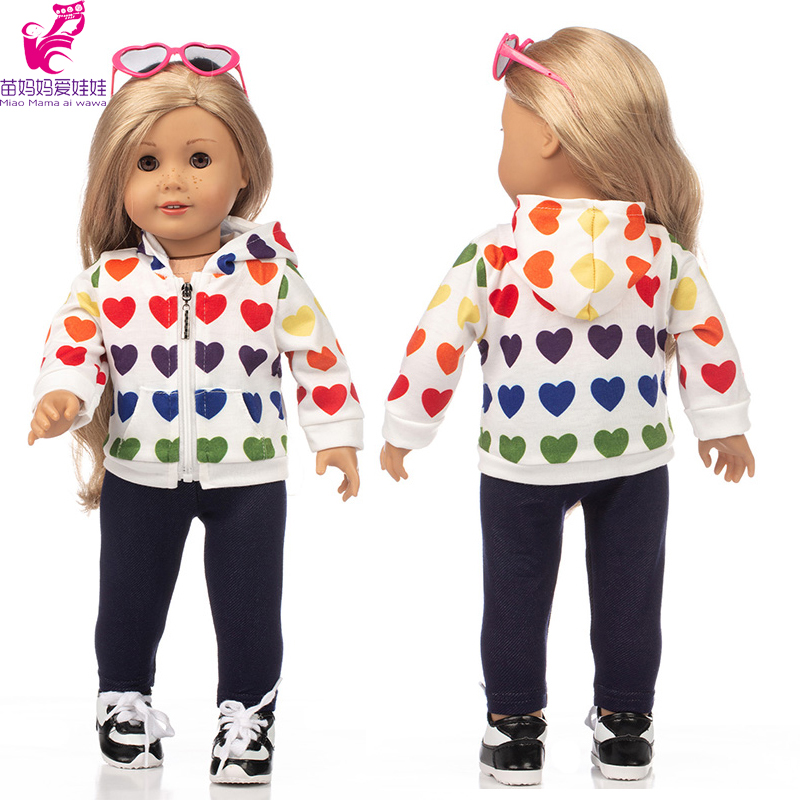 18 Inch American Og Girl Doll Clothes Coat 43cm Baby New Born Doll Suit Casual Outfits Toys Clothing