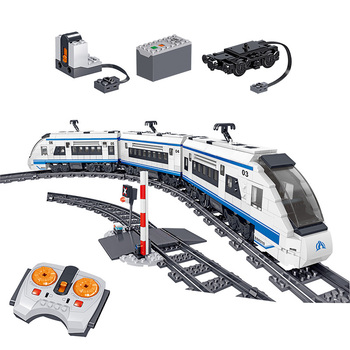 941pcs City High Speed Train Rail Building Blocks