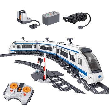 941pcs City High Speed Train Rail Building Blocks