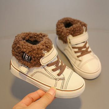 2020 Winter Kids Boots brand boys girls warm leather sneakers fashion footwear children casual shoes plush non slip sport shoes hot sale boys shoes children casual shoes girls new brand kids leather sneakers sport shoes fashion casual children boy sneakers