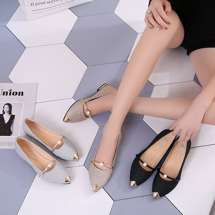 Women's Shoes Korean-Version Comfortable Pointed Fashion New Summer Frosted-Surface