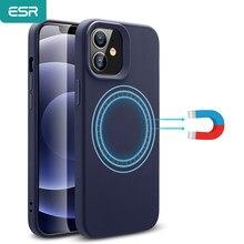 ESR étui magnétique pour iPhone 12 Pro Max/12 mini étui pour charge sans fil liquide-sensation Protection complète étui en Silicone pour iPhone
