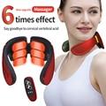 Массажер для шеи 6 головок Электрический шейный Массажер Шиацу и горячим компрессом импульса для шеи и плеч назад расслабляющий инструмент ...
