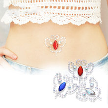 3PCS Fake Belly Button Rings Sticker Belly Piercing Faux Piercings Ombligo Non Piercing Navel Ring Body Jewerlry