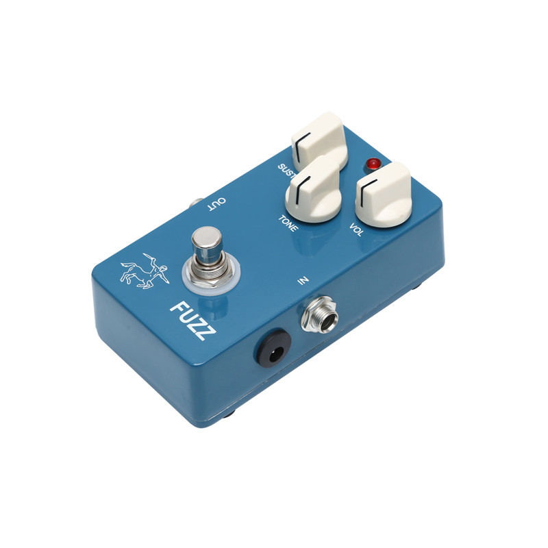 Купить с кэшбэком DIY 1590B Aluminum Enclosure  Blue Color Handmade Fuzz Distoration Effect Pedal With Ture Bypass For Guitarra Accessories