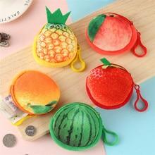 цены 3D Fruit Coin Purse Mini Handbag Key Mini Bag Female Zipper Small Wallet Girls Change Purse Credit Card ID Holder Package Purse