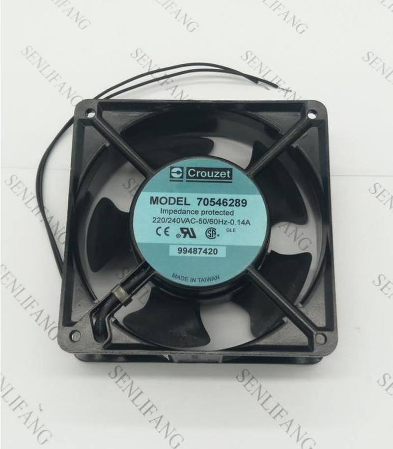 For Crouzet 70546289 99487420 120*120*38mm 220V 0.14A Cooling Fan 2 Wire Processor Cooler Heatsink Fan