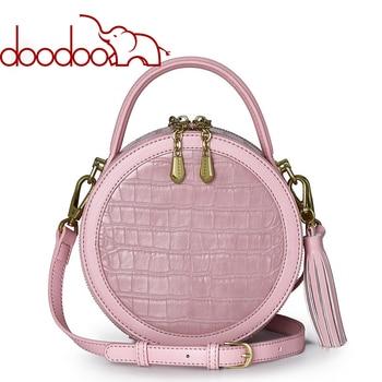 Fashion Round Handbags For Women DOODOO Brand High-end Ladies Designer Chains Diamonds Crossbody Bags Wmen