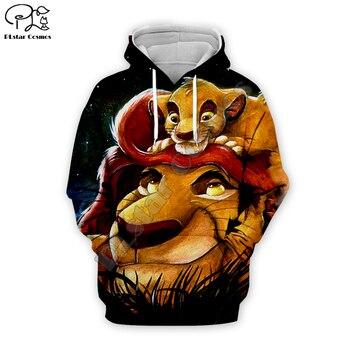 цена Newest casual the Lion King Simba 3D cartoon hoodies / sweatshirts / shirt print the Men women slim long sleeve streetwear TL025 онлайн в 2017 году
