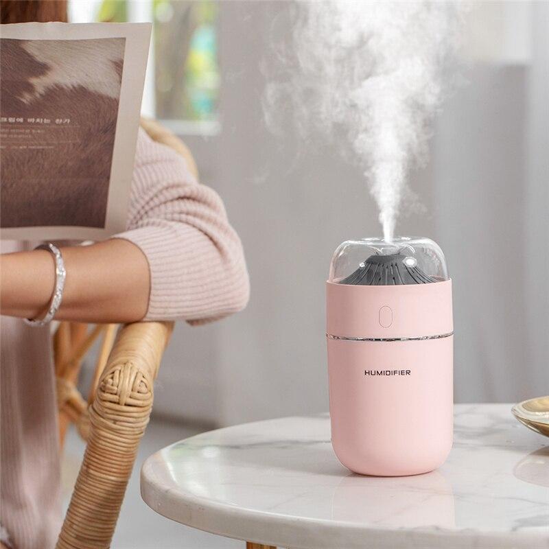 320ML Mini Usb Car Travel Ultrasonic Humidifier Mist Maker Aromatherapy Essential Oil Portable Diffuser Humidificador Difusor