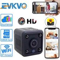 EVKVO-minicámara IP HD 1080P con WiFi y batería integrada, videovigilancia inalámbrica de seguridad, visión nocturna, Monitor de bebé
