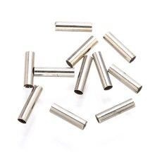 цена на 50pcs straight tube connectors spacer bead bracelet earrings rhodium color jewelry findings accessories