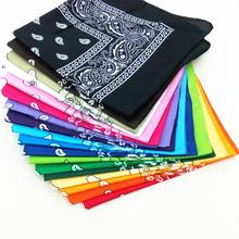 2020 Unisex Men Women Cotton Bandana Hairband Cowboy Mens Biker Sports Headwear Wrist Hairwrap Double Sided Head Wrap Scarf(China)