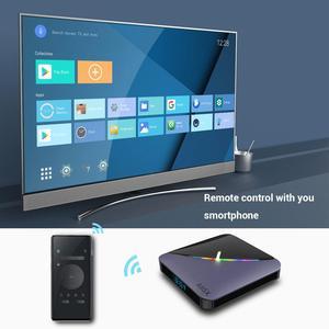 Image 2 - A95XF3 4GB 64GB 32GB RGB אור חכם טלוויזיה תיבת 2G 16G אנדרואיד 9.0 A95X F3 אוויר Amlogic S905X3 Wifi אלחוטי HD Ott מדיה נגן