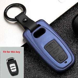 Image 2 - New ABS+Silica gel Carbon fiber Car Key Cover Case For Audi Q3 Q5 Sline A3 A5 A6 C5 A4 B6 B7 B8 TT 80 S6 C6 Remote carKey Jacket