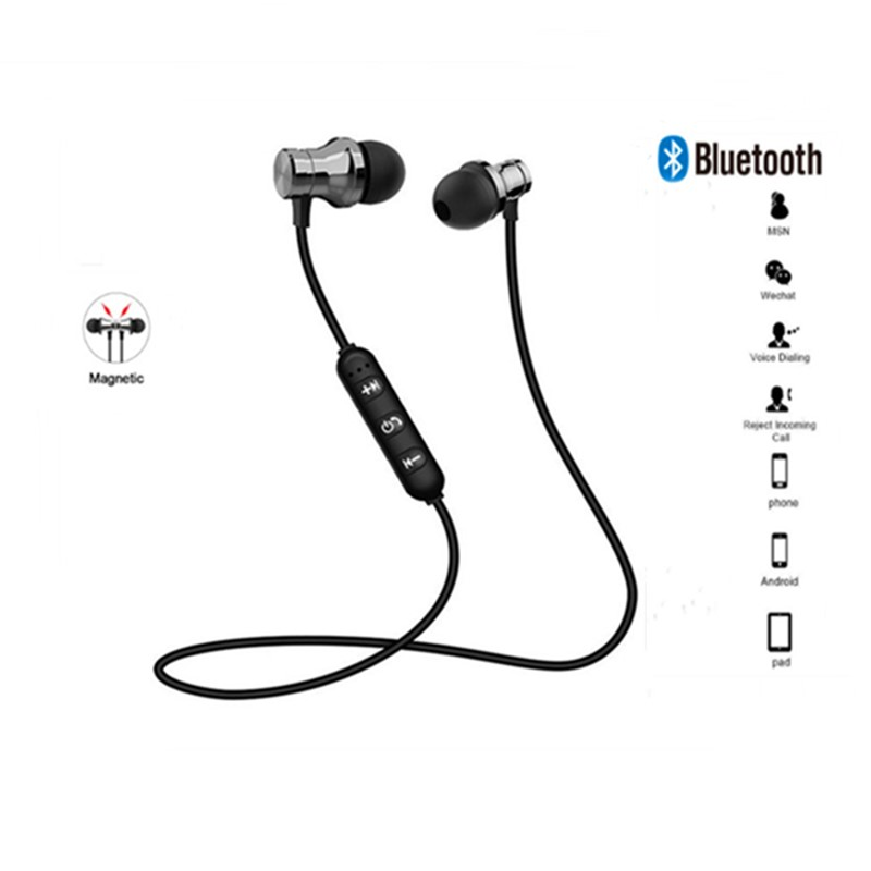 Magnetic Attraction Bluetooth Earphone Headset Sweatproof Sport Earbuds Cable Young Earphone Build In Mic Wireless Headphones Bluetooth Earphones Headphones Aliexpress