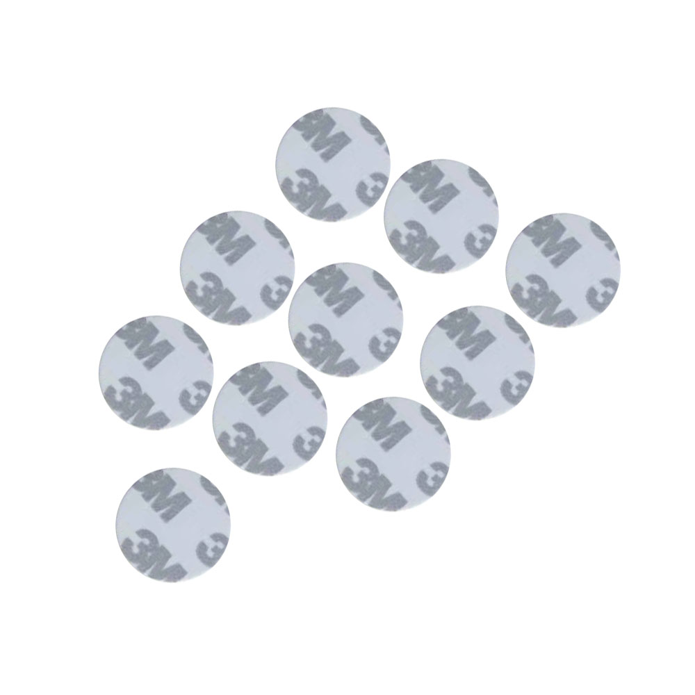 (10PCS/LOT) DELLON 25mm RFID Round Shape Sticker Adhesive Card Programmable 125khz T5577 3M Rewritable Smart Tags