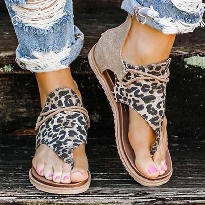 2020 Top seller - Women Sandals Leopard Pattern Large Size Rome Sandals Women''s Anti-slip Hot Selling Wedges Summer shoes