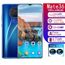 Mate36 6.7 inch water drop screen 2+16GB mobile phone smart phone Face recognition technology phones