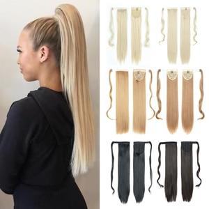 Azqueen Straight Clip In Hair Ponytail False Hair 22