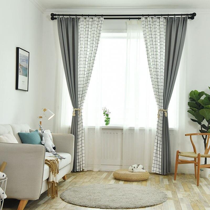 Modernas cortinas simples grises de estilo de punto para dormitorio, sala de estar, cortinas de diseño a cuadros, decoraciones para balcón Guirnalda para exterior de luces LED navideñas de 4,6 M, guirnalda para luces de hadas, cortina de carámbano para Calle de 0,4 a 0,6 m, decoración para el hogar y Jardín de 110 a 220V