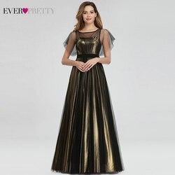 Элегантные вечерние платья Ever Pretty, длинные платья трапециевидной формы с открытыми плечами и цветочным принтом, шифоновые вечерние платья ...
