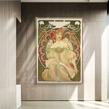 Fairy Art Nouveau Famous Paintings by Alphonse Mucha Canvas Posters And Prints Pictures For Living Room Wall Decor