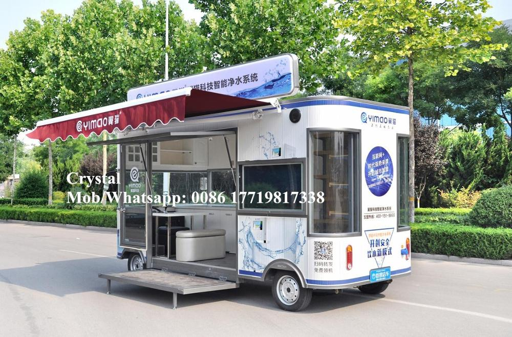 4600mm Mobile Electric Ice Cream Cart Fast Food Truck With Stage