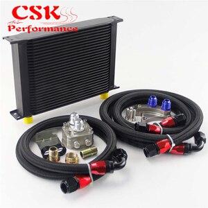 28 Ряд 248 мм AN10 Масляный радиатор комплект Подходит для Nissan Silvia S13 S14 S15 180SX 200SX 240SX SR20DET черный