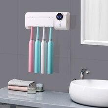 ABVP Антибактериальный 2 в 1 УФ-светильник ультрафиолетовая зубная щетка автоматический диспенсер для зубной пасты стерилизатор держатель для зубной щетки очиститель Wal