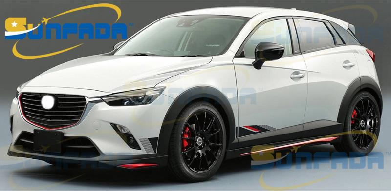 HOT SALE Sport Style Car Both Side Body Decal Car Stickers For MAZDA 2 DEMIO 3 CX-3 AXELA 2013-2020 Car-styling