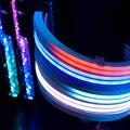 Удлинительный кабель для блока питания, красный, синий ATX 24Pin GPU 8pin Triple Streamer PCI-E 6 + 2Pin Dual Rainbow Cord 5V Sync PC чехол украшение