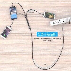 Image 5 - ORICO 3 en 1 Type C 8Pin Micro câble USB pour iPhone 8X7 6 6S Plus iOS 10 9 8 Samsung Nokia USB câbles de charge rapide cordon