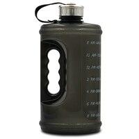 2.2l grande capacidade esportes garrafa ginásio grande chaleira esportes ao ar livre garrafa de acampamento piquenique portátil garrafa de água preto|null| |  -