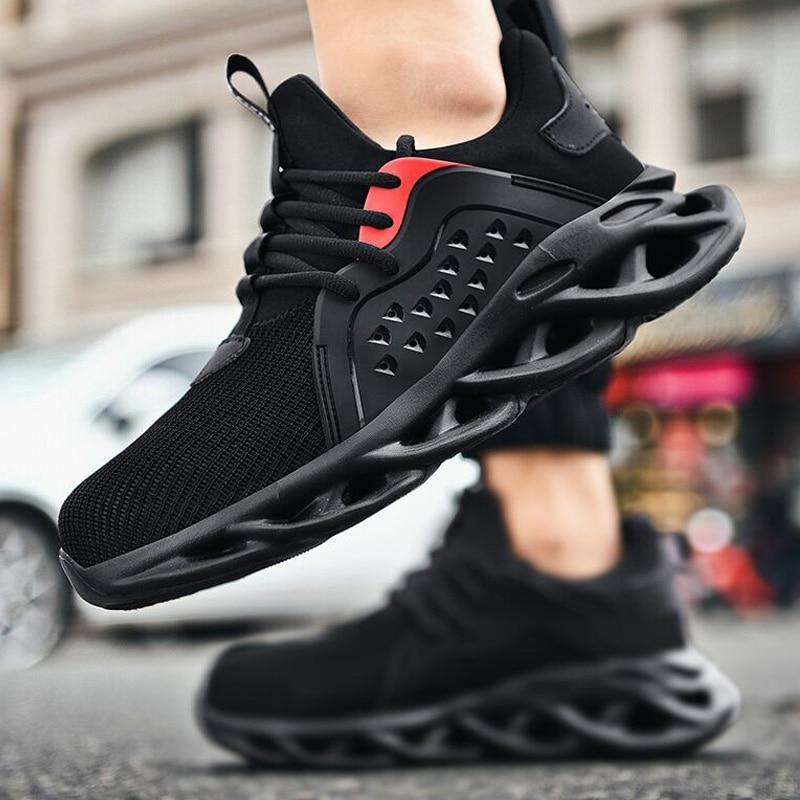 Мужские рабочие кроссовки, удобные рабочие ботинки с защитой от проколов, неразрушимая безопасная обувь для мужчин, рабочие ботинки