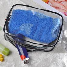 Women Cosmetic Bag PVC Transparent Waterproof Makeup Bag Travel Toiletry Storage Organizer Bath Wash Tote Case Large Capacit