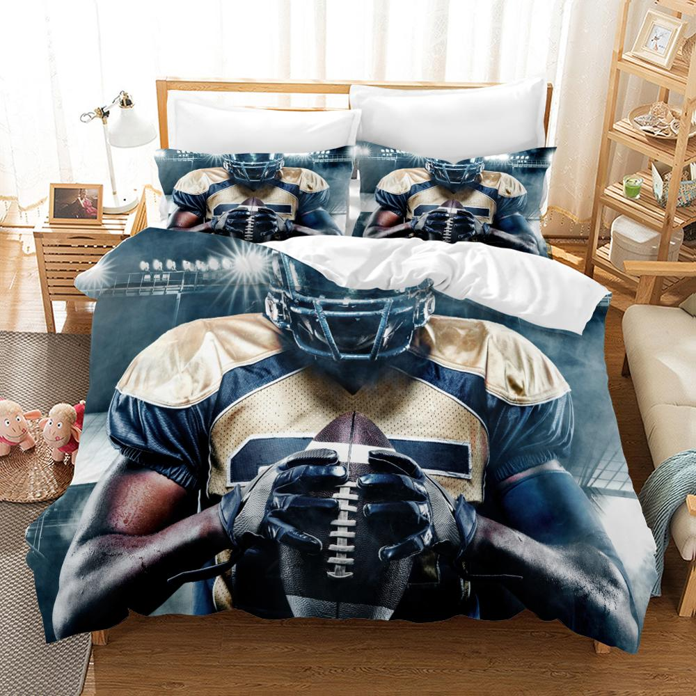 120g High Grade Fabric Rugby Bed Linens Duvet Covers Rugby Player Comforter Bedding Sets Bedclothes Bed Linen Bed Set