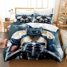 120g High Grade Fabric Rugby Bed Linens Duvet Covers player Comforter Bedding Sets Bedclothes Linen Set