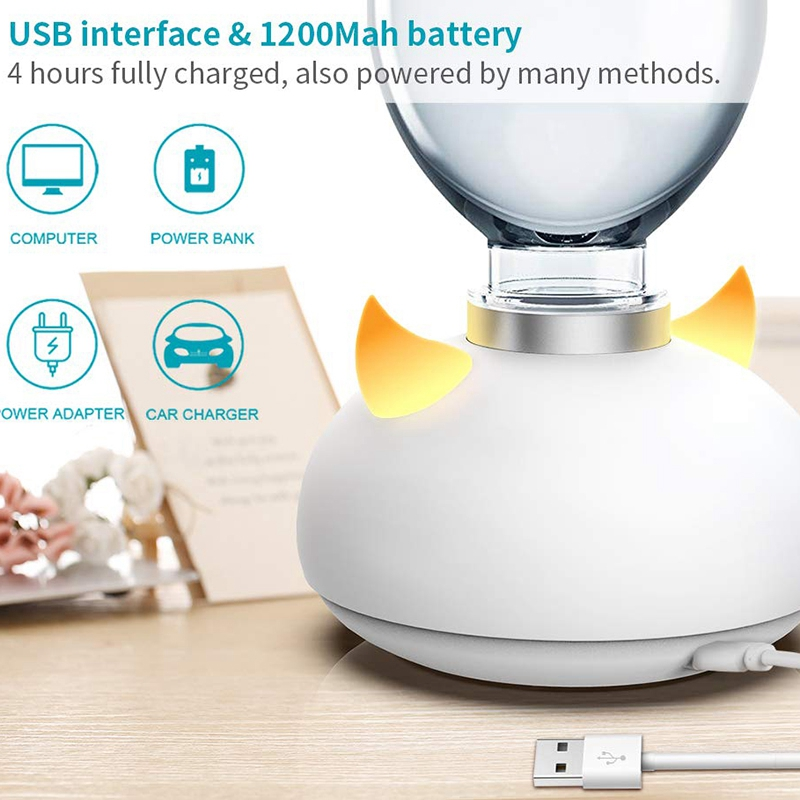 Personal Small Humidifier for Desk  Portable Mini Cool Mist Humidifier for Bedroom  Travel and Hotel  USB and 1200MAh Battery Op|Humidifiers| |  - title=