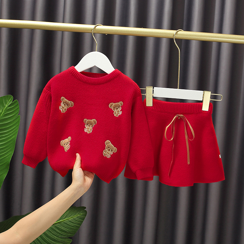 Baby fruit sweater set for girls