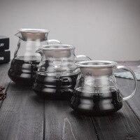 700 ml/500 ml/350 ml hario pote de café de vidro para japness estilo v60 filtro de café reusável despeje sobre copos de café de vidro de café Cafeteiras    -