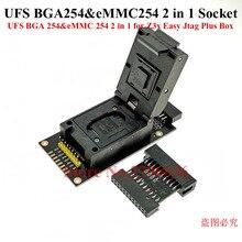 Neueste original UFS BGA 254% eMMC 254 2 in 1 Buchse Adapter für Einfach Jtag Plus Box