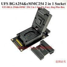 Original UFS BGA 254 EMMC 254 2 In 1ซ็อกเก็ตอะแดปเตอร์สำหรับ Z3X Easy Jtag Plus กล่อง