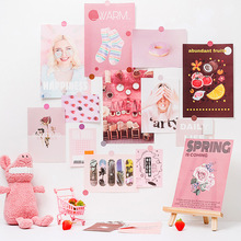 Sealing-Stickers Poster Paper Decorative-Card Photo-Props Nordic-Art Small Diy Ins 17-Sheets