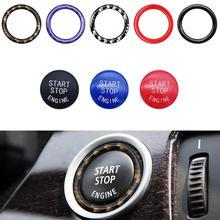 Voiture bouton interrupteur décor anneau moteur allumage démarrage bague darrêt pour Bmw e90 e60 e70 voiture style bouton interrupteur couverture voiture accessoires