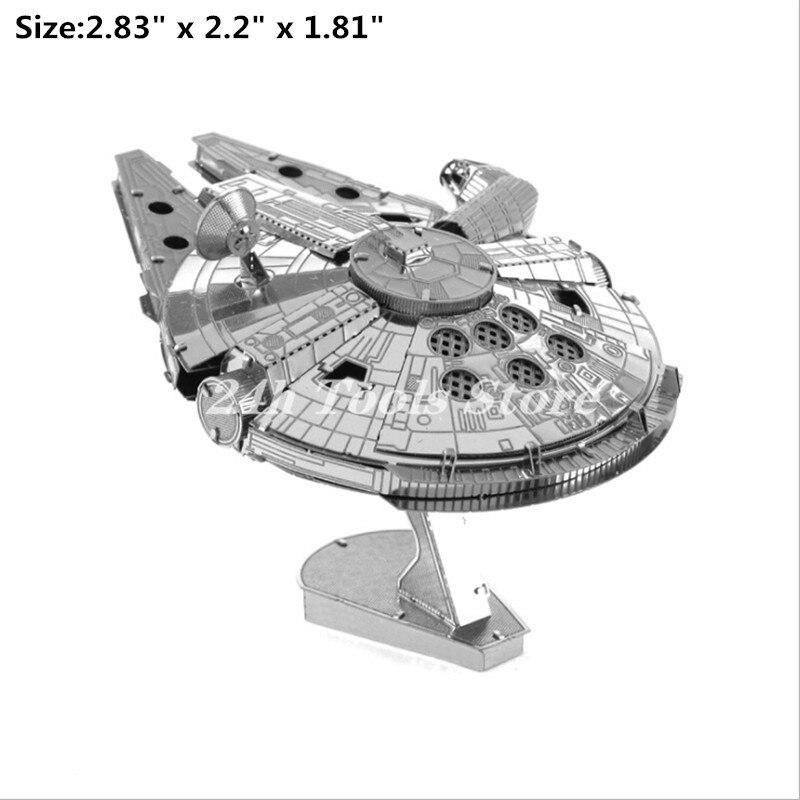 Новая звезда 3D металлический пазл R2D2 X-wing Millennium fighter ATAT BB8 наборы моделей «сделай сам» Лазерная вырезка сборка головоломка подарок