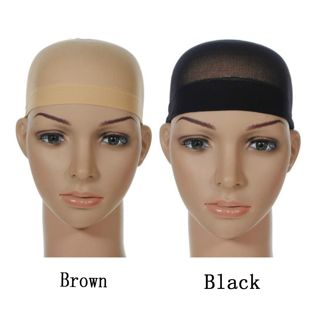 Highly Elastic Wig Cap Deluxe Hairdressing Tool Dome Wig Cap Mesh Weaving Cap Wig Wearing Intranet Unisex Black Brown Net Cap