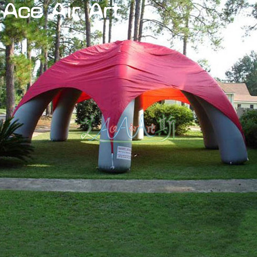 Giant outdoor red inflatable spider <font><b>tent</b></font> with half tie <font><b>garage</b></font> cover inflatale gazebo dome <font><b>car</b></font> shelter for trade meeting image