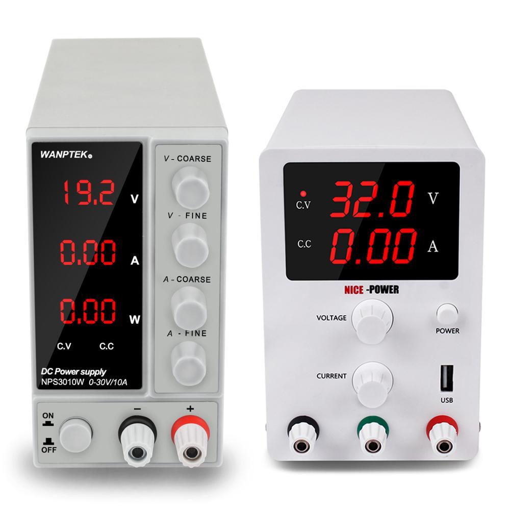 Новые Регулируемые Лаборатория источника питания 30v 10a 60v 5a переключить источник fonte-де-bancada напряжения и тока регулятор 220v 110