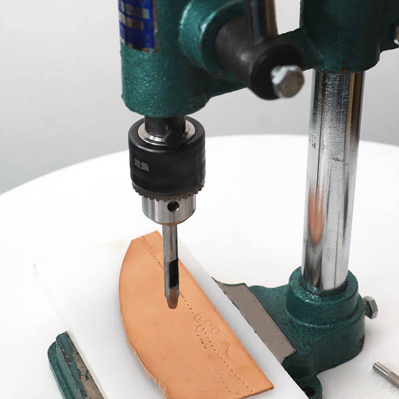 DNYSYSJ Manual DIY Leather Imprinting Machine Leather Punching Tool Hole Punching Stamping Embossing Tool with Scale Board US